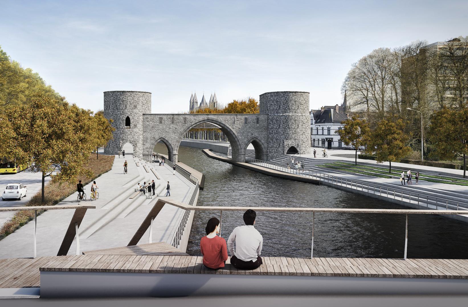 Zo zal de verrezen Pont des Trous eruit zien - © Bureau Greisch
